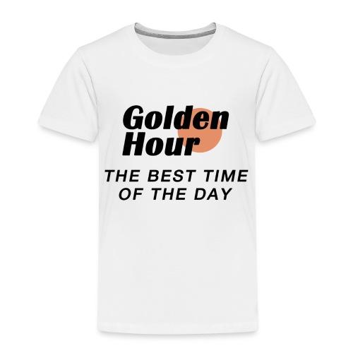 Golden Hour logo & slogan - Kids' Premium T-Shirt