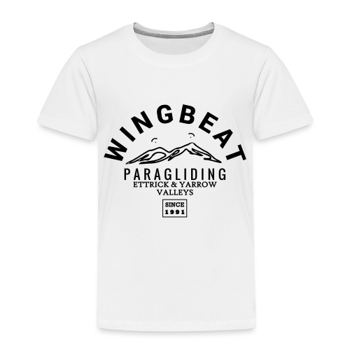 wingbeat logo - big - on back - in white - Kids' Premium T-Shirt