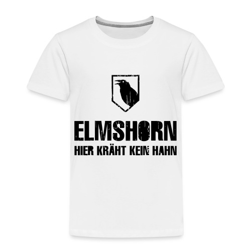 elmshorn kraehe w b transparent - Kinder Premium T-Shirt
