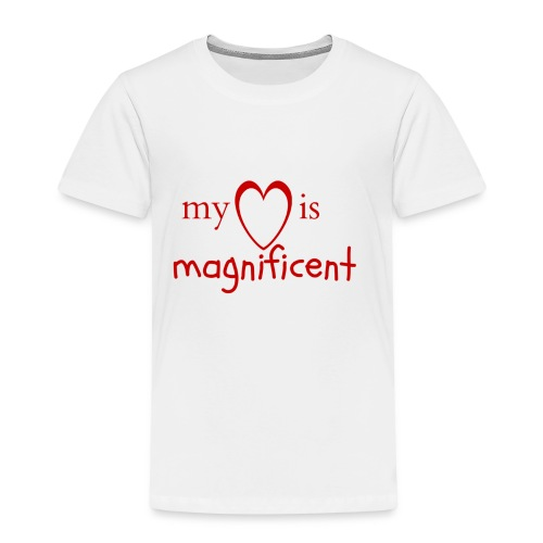 My heart is magnificent - Børne premium T-shirt
