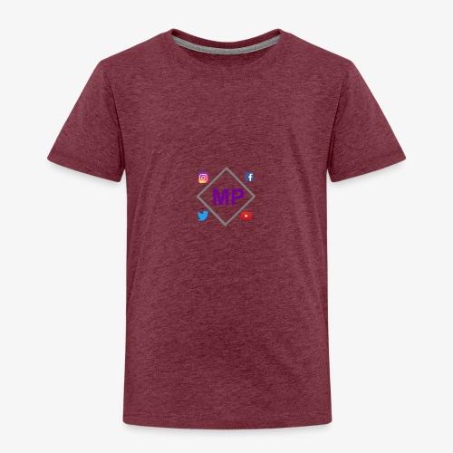 MP logo with social media icons - Kids' Premium T-Shirt