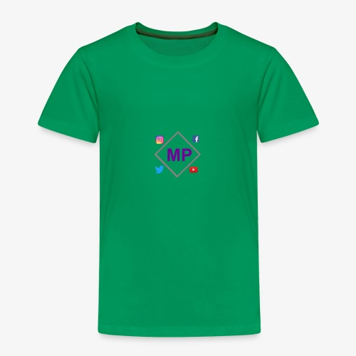 MP logo with social media icons - Kids' Premium T-Shirt