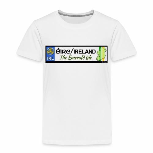EIRE IRELAND IRL, The Emerald Isle, licence tag EU - Kids' Premium T-Shirt
