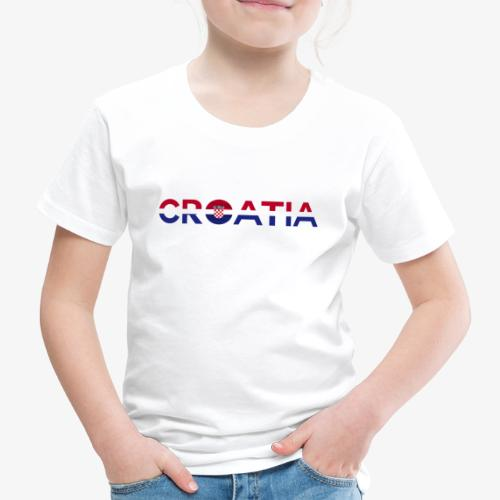 From Croatia with Love - Croatia stripswith emble - Kinder Premium T-Shirt