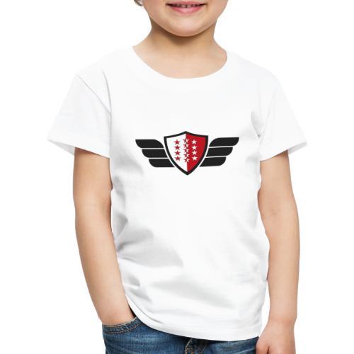 Flying Valais - Walliser Flagge mit Flügeln - Kinder Premium T-Shirt