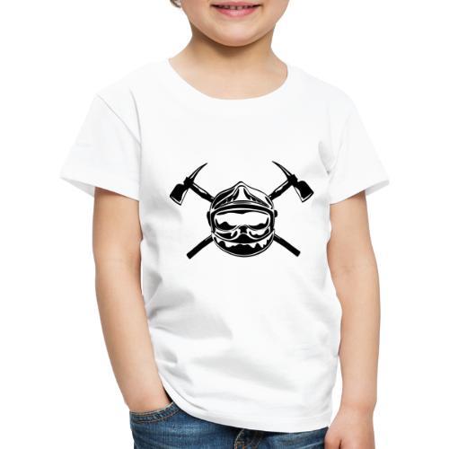 casque_pompier_2 haches - T-shirt Premium Enfant