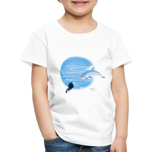 Dolphin and diver - Maillots - T-shirt Premium Enfant