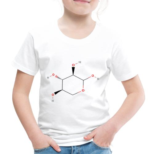 Xylose Molecule - Colored Structural Formula - Børne premium T-shirt