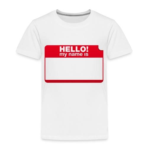 Hello! my name is by Punktzebra brands - Kinder Premium T-Shirt