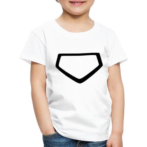 Baseball Homeplate Outline - Kids' Premium T-Shirt