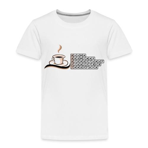 Kahvi-ristikko - Lasten premium t-paita