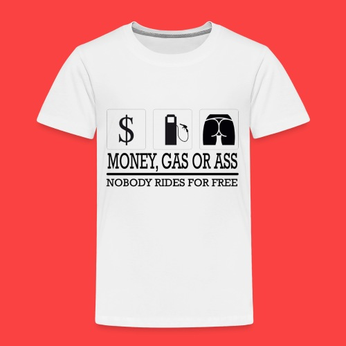 MONEY-GAS-OR-ASS - Camiseta premium niño