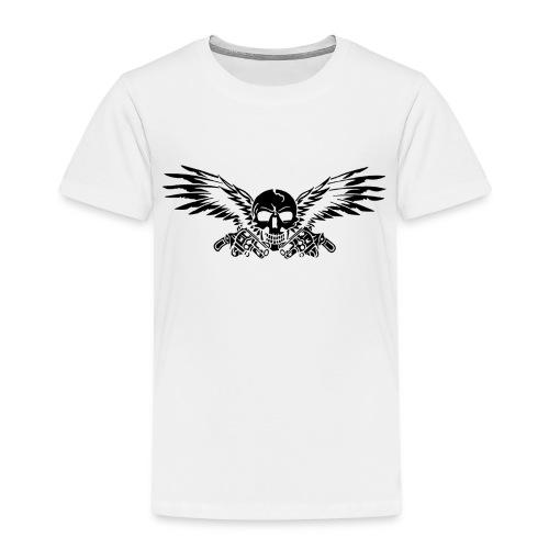 skull mit gun - Kinder Premium T-Shirt