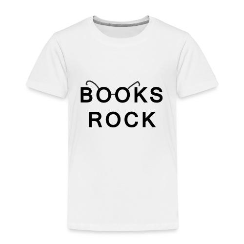 Books Rock Black - Kids' Premium T-Shirt