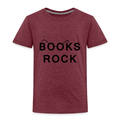 Books Rock Black - Kids' Premium T-Shirt