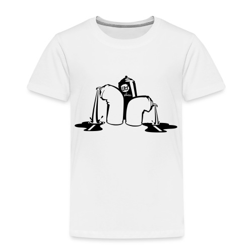 puking spray cans - Kinderen Premium T-shirt