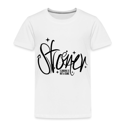 Stoner - climbing is not a crime - Kinder Premium T-Shirt