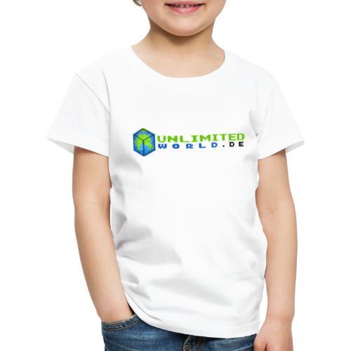 UW Logo mit schwarzem DE - Kinder Premium T-Shirt