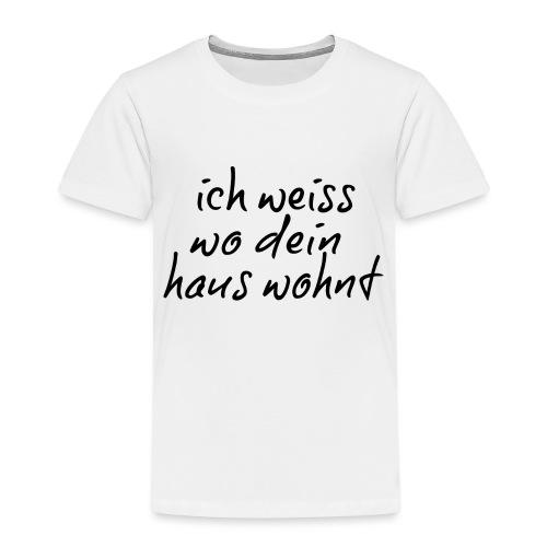 ich weiss.png - Kinder Premium T-Shirt
