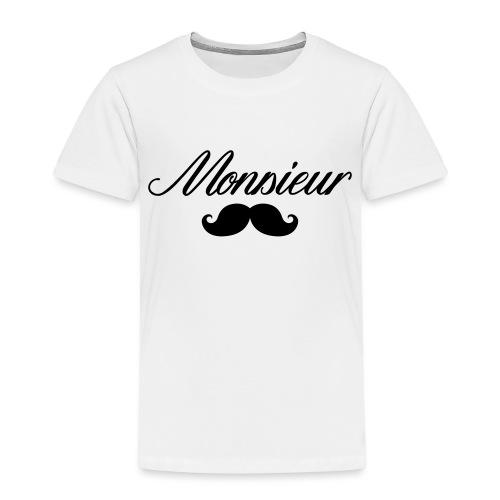 monsieur moustache logo - T-shirt Premium Enfant