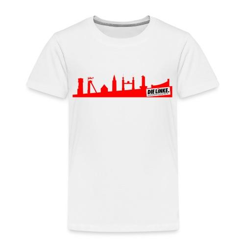 DIE LINKE SV Castrop Rauxel Skyline rot - Kinder Premium T-Shirt