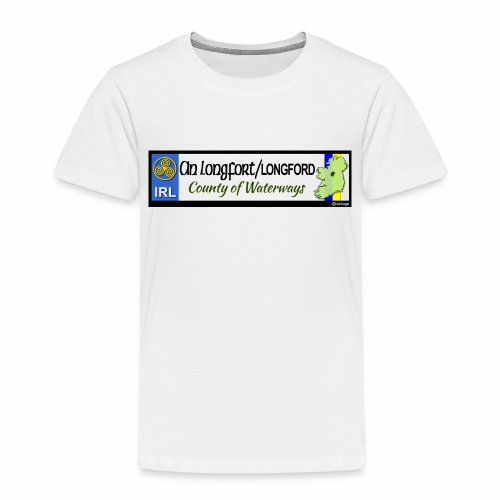 LONGFORD, IRELAND: licence plate tag style decal - Kids' Premium T-Shirt