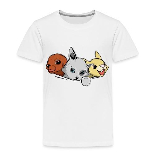 Un chaton un lapin un chiot - T-shirt Premium Enfant