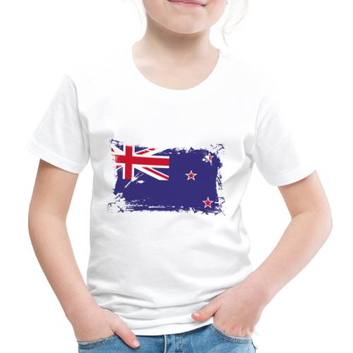 New Zealand Flag, Flagge Neuseeland - Kinder Premium T-Shirt