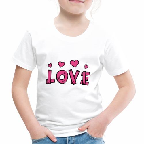 Love tuoteperhe - Lasten premium t-paita