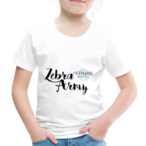 Zebra Army (black) - Kids' Premium T-Shirt