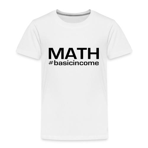 math-black - Kinderen Premium T-shirt