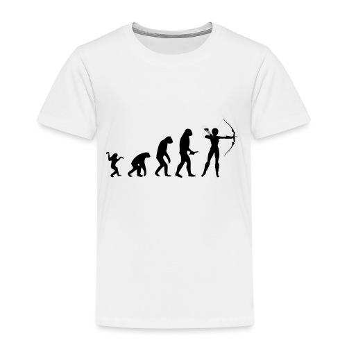 Evolution of Human to a Archer - Kinder Premium T-Shirt