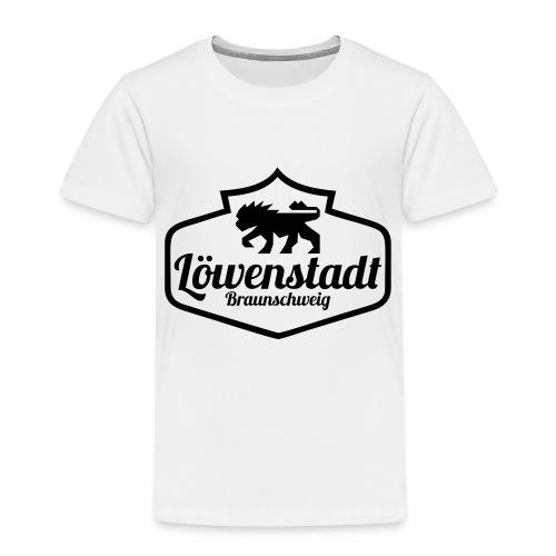 Löwenstadt Design 1 schwarz - Kinder Premium T-Shirt