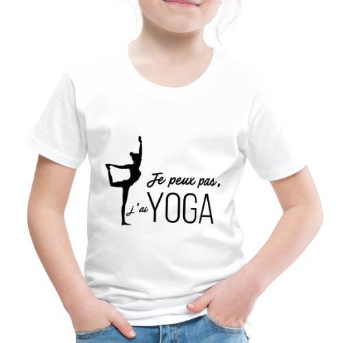 Je peux pas j'ai Yoga (version femme) - T-shirt Premium Enfant