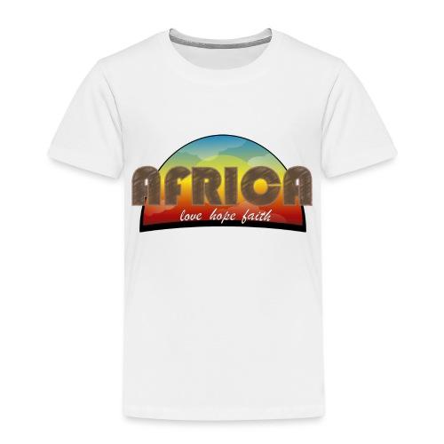 Africa_love_hope_and_faith2 - Maglietta Premium per bambini