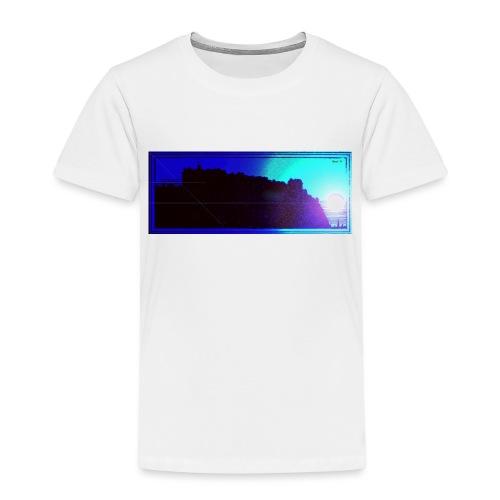 Silhouette of Edinburgh Castle - Kids' Premium T-Shirt