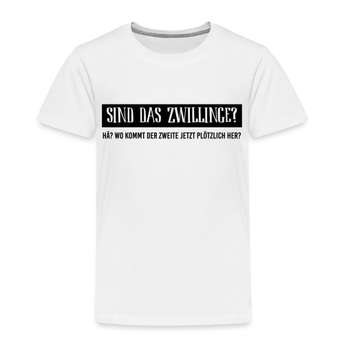 BIO Stoffbeutel: Sind das Zwillinge? - Kinder Premium T-Shirt