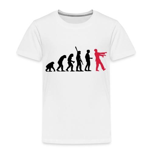 Zombie Evolution (zweifarbig) - Kinder Premium T-Shirt