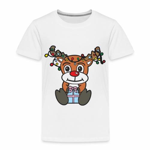 Rentier mit Lichterkette - Kinder Premium T-Shirt
