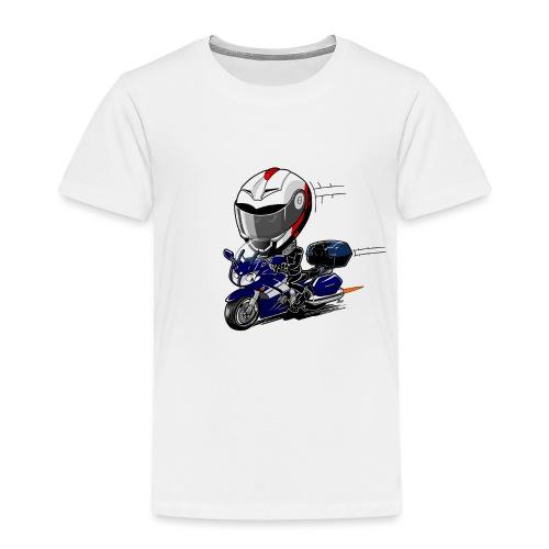 FJR OceanBlue helm en kofferset - Kinderen Premium T-shirt