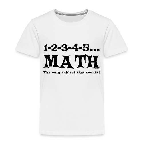 Black Math Counts - Kids' Premium T-Shirt