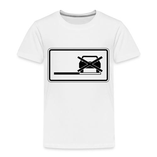 Parken verboten Tshirts Schild weiß - Kinder Premium T-Shirt