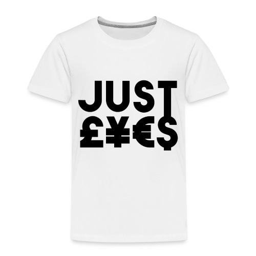 Just £¥€$ - Maglietta Premium per bambini