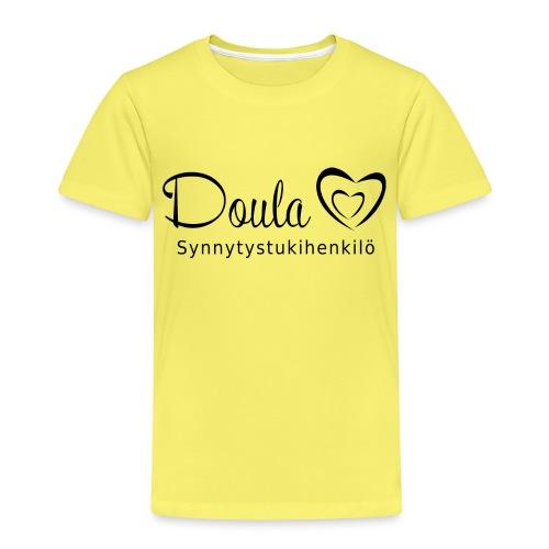 doula sydämet synnytystukihenkilö - Lasten premium t-paita