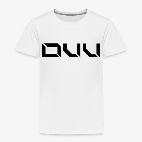 DUU Logo Vektor Schwarz - Kinder Premium T-Shirt
