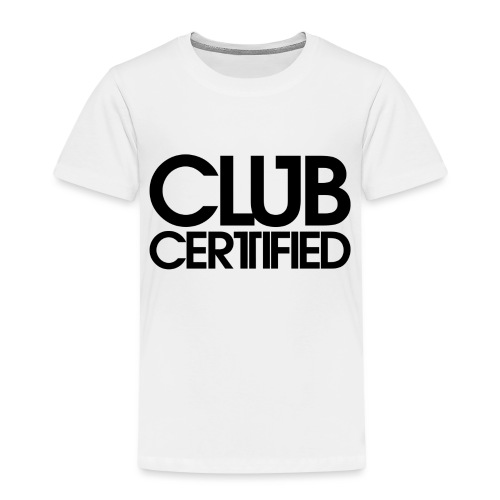 LOGO CLUB CERTIFIED BLACK - Kids' Premium T-Shirt