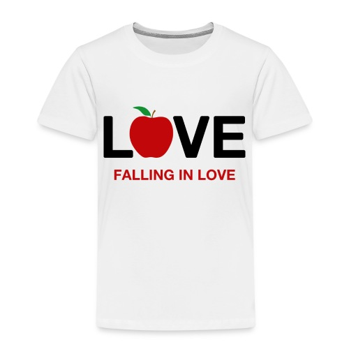 Falling in Love - Black - Kids' Premium T-Shirt