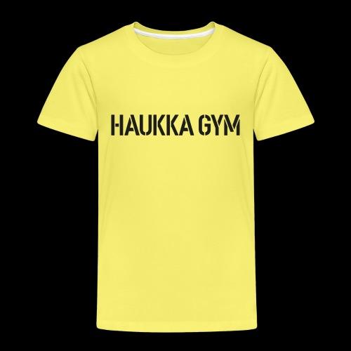 HAUKKA GYM text - Lasten premium t-paita