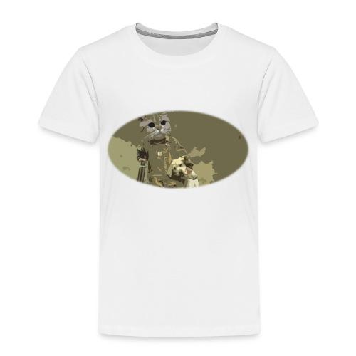 Cat hunting dogs - Premium T-skjorte for barn