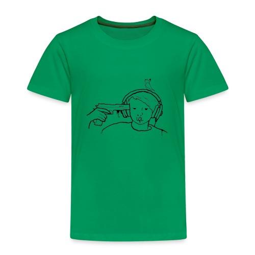 kys valkoinen - Lasten premium t-paita